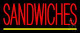 Red Sandwiches Neon Sign