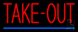 Red Take-Out Neon Sign