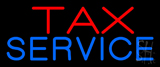 Red Blue Tax Service Neon Sign