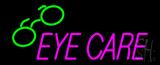Pink Eye Care Logo Neon Sign