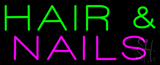 Green Hair and Nails Pink Neon Sign