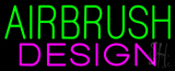 Green Airbrush Design Neon Sign