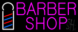 Pink Barber Shop with Logo Neon Sign