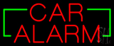 Red Car Alarm with Green Brackets Neon Sign
