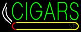 Green Cigars Logo Neon Sign