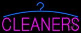 Pink Cleaners Logo Neon Sign
