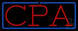 Red CPA Blue Border Neon Sign
