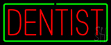 Red Dentist Green Border Neon Sign