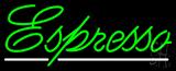 Cursive Green Espresso Neon Sign