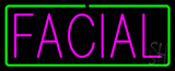 Pink Facial Green Border Neon Sign