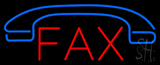 Red Fax with Logo Neon Sign