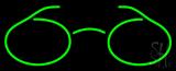 Green Glasses Logo Neon Sign