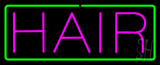 Pink Hair with Green Border Neon Sign
