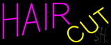 Pink Hair Cut Yellow Neon Sign