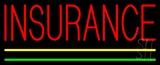 Red Insurance Yellow Green Lines Neon Sign