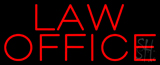 Red Law Office Neon Sign
