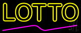 Double Stroke Yellow Lotto Neon Sign