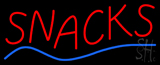 Red Snacks with Blue Line Neon Sign