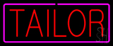Red Tailor with Pink Border Neon Sign