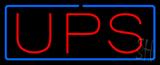 UPS Blue Border Neon Sign