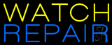 Yellow Watch Blue Repair Neon Sign
