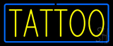 Yellow Tattoo Blue Border Neon Sign