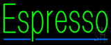 Green Espresso with Blue Line Neon Sign