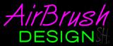 Purple Airbrush Green Design Neon Sign