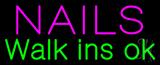 Nails Walk Ins OK Neon Sign