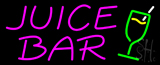 Pink Juice Bar Logo Neon Sign
