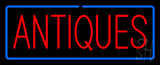 Antiques with Border Neon Sign