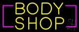 Yellow Body Shop Neon Sign