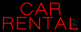 Car Rental Neon Sign