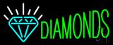Green Diamonds Logo Neon Sign
