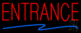 Entrance Neon Sign with Zigzag Arrow