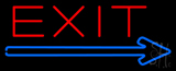 Exit Neon Sign with Arrow