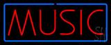 Music Blue Border Neon Sign
