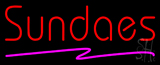 Red Sundaes Purple Line Neon Sign