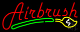 Red Airbrush Logo Neon Sign
