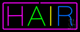 Multicolored Hair with Purple Border Neon Sign