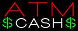 ATM Cash with Dollar Logo Neon Sign