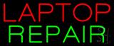 Red Laptop Repair Neon Sign