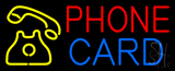 Phone Card with Logo Neon Sign