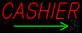 Cashier Neon Sign with Arrow