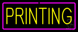 Yellow Printing with Purple Border Neon Sign