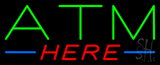 Green ATM Here Neon Sign