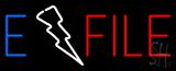 E File Neon Sign