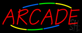Multicolored Deco Style Arcade Neon Sign
