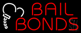 Red Bail Bonds Logo Neon Sign