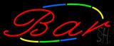 Multi Colored Cursive Bar Neon Sign